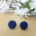 Everyday earrings, navy blue earrings, blue earrings, round earrings, gift ideas