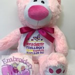 "Personalised Embroidered Bears ""Pink Nose"""