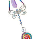 Crystal dragonfly chakra suncatcher