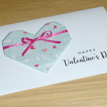Valentines Day card- origami heart