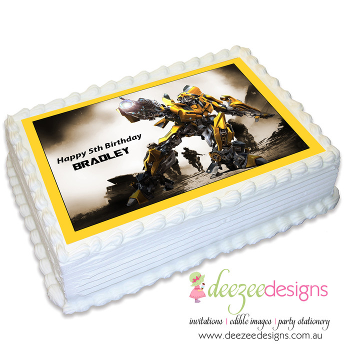 Transformers Personalised Cake Topper A4 Wafer paper//Icing sheet