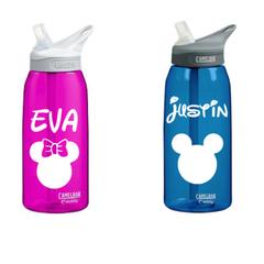 Disney Themed Personalized Water Bottle for School or Sport