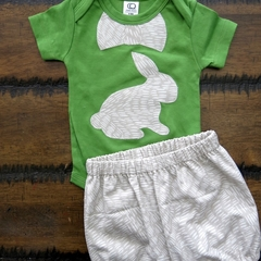 Baby boy Easter bodysuit with shorts