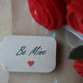 30 Be Mine Tags ~ Valentine's Day Gift Tags ~ Cake Box Tags ~ Florist Gift Tags