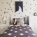 128 Polka Dots Peel and Stick Wall Circle Spots Decal Vinyl