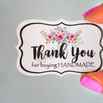 Thank you Handmade Tags - Buying Handmade Tags - Thank you Tags - 50 Tags