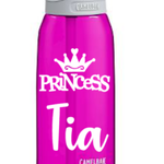 Princess Themed Personalized Water Bottle for School or Sport