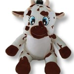 """Personalised Embroidered Bears """"Cow"""""""