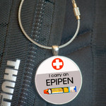 School Bag Tag, Medic Alert - Epipen (40mm)