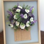 Francie Frames original. Winter blues and greens in hessian.