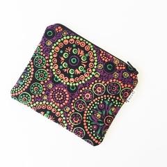 Aboriginal Wild Desert Flower coin purse