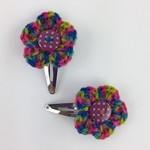 Crochet Flower Hair Clips | Girls | Hairclips | Hand Crocheted | Ready to Post