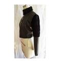 Textured black faux leather jacket with black faux fur trim. Size S AU Size 10.