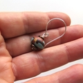 Gumnut drop sterling silver and polymer earrings