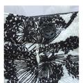 Plant Life. Size L. AU Size 14/16. Black & white knee length flared skirt. Vegan
