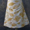 Aline Silk Skirt Tiwi Design Fish Size 10 (s)