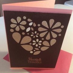 Thank you cards. Feminine. Free postage!