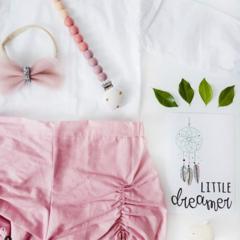 Blush Pink Pucker Shorties GirlsToddler  Babies