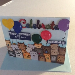 Birthday cards. From all of us. For cat lovers!