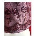 Vegan Purple sequin lace on grey hooded festive top. Size S  AU size 10.
