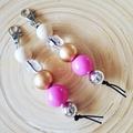 Pink Jumble Keyring