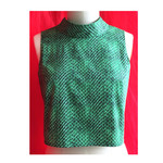 Retro Snakeskin themed printed top. Size M/L and AU Size 12 to 14. Vegan.