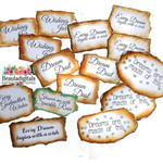Fairy Sparkle Stickers - Printed Fairy Labels - Fairy Stickers - 15 per pack