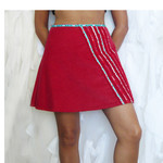 A Racy Little British Number. Size S. AU Size 10. Red Corduroy Mini Skirt.