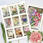 Vintage Floral Postage Stamps ATC Printables
