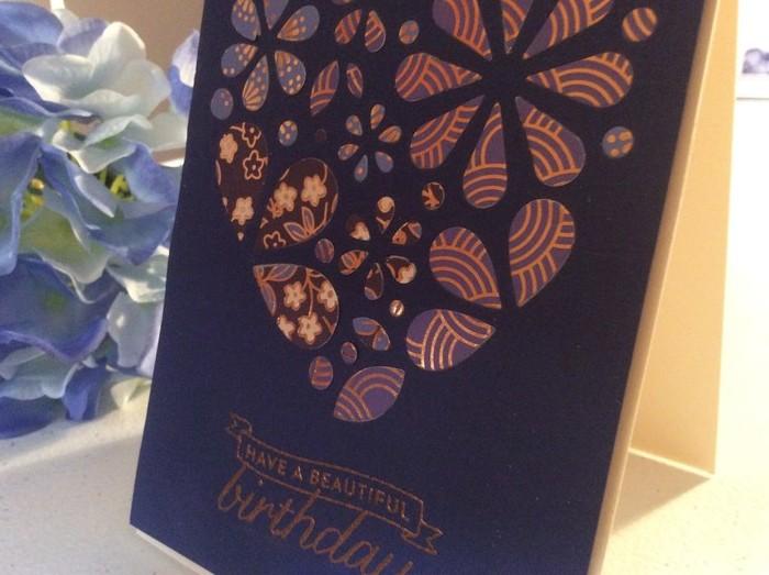Female Birthday Card Heart Inlay Free Shipping