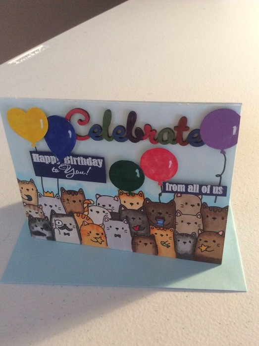 Birthday Cards From All Of Us For Cat Lovers