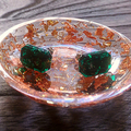 Hand Made Resin Ring Dish Rose Gold and Silver Foil Mix
