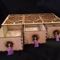 3 drawer Rose Box