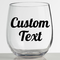 Custom Vinyl Decal for Wine Glass, Wine Glass Decal, Coffee Mug Cup - DECAL ONLY