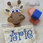Minky Giraffe 'Ruggybud' - personalised, comforter, keepsake, lovey.