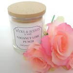 COCONUT LIME SCENTED SOY CANDLE