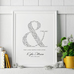 PRINTABLE Wedding Vows Keepsake Print - Happily Ever After