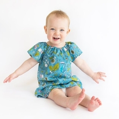 dress - herb meadow / organic cotton peasant-style / eco friendly / girl 1 year