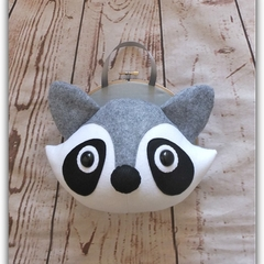 Raccoon Faux Taxidermy Head, Kids Room Décor, Nursery Décor, Custom Made
