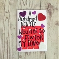 Valentines day card, hearts, love