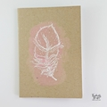 Boho Feathers Hand Stamped & Embossed Blank Page Journal Notebook