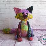 Heirloom Patchwork Batik Fox Handcrafted
