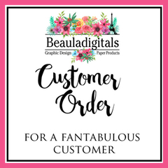 Custom Logo Tags - Customer Order Swing Tags - 250 Tags