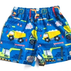 """Size 3 """"Cement Trucks and Diggers"""" shorts"""