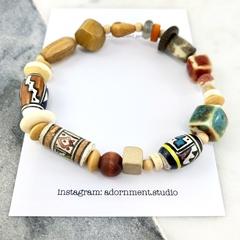 Mens Bracelet- Ceramic and wood