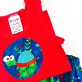 """Sizes 1 to 3 Months  """"Turtles & Lizards"""" Nappy Pants & Singlet"""