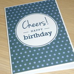 Male Happy Birthday card - Cheers