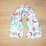 Scarf Australian Native Gumnut blossom, eucalyptus Australiana scarf