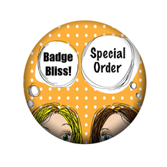 Special order Succulent wreath Hens party badges