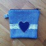Upcycled Denim Purse - Denim Heart